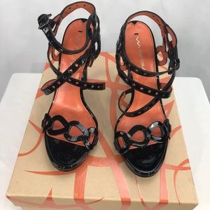 Via Spiga New Womens Black Patent Leather 6.5M